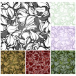 Cтоковый вектор: Abstract seamless pattern, set