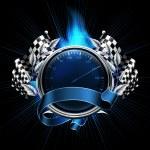 Blue Emblem Races — Stock Vector #12827619