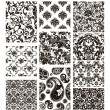 Royalty-Free Stock ベクターイメージ: Set of ten patterns, black silhouettes