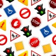Royalty-Free Stock Vector Image: Road signs, seamless pattern