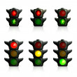 Traffic lights — Stock Vector #12829170