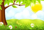 Green landscape, 10eps — Stock Vector