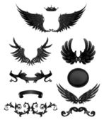 Design elements with wings, high quality 10eps — Stock Vector