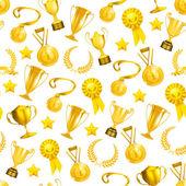 Golden Awards, seamless pattern 10eps — Stock Vector