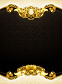 Vintage background black vertical, 10eps — ストックベクタ