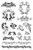 Calligraphic design, set — Stock Vector
