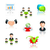 Business, icon set — Stock Vector