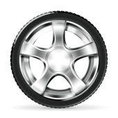 Car Wheel, vector — Stock Vector