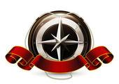 Compass Emblem, vector — Stock Vector