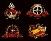 Marine Emblem set on black, 10eps — Stock Vector