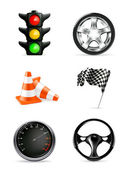 Road icons, set — Stock Vector