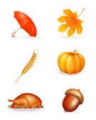 Autumn, icon set — Stock Vector