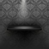 Empty shelf, black luxury — Stockvector