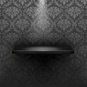 Empty shelf, black luxury — Stock Vector
