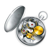 Mechanical clock, vector — Stock Vector