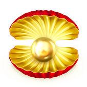 жемчуг золото, вектор — Cтоковый вектор