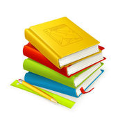 Stack of textbooks, vector — Stock Vector