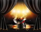 Fondo de trucos de magia — Vector de stock