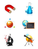 Science, set, icon — Stock Vector