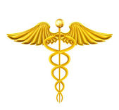 Golden Caduceus — Stock Vector
