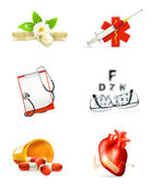 Medicine, set of icons — Stock Vector