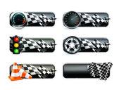 Racing banners set — Stock Vector