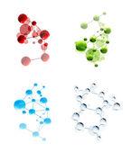Set of molecules — Stock Vector