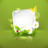 Spring frame, green — Vector de stock