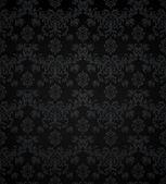 Wallpaper pattern black, seamless — Stock Vector