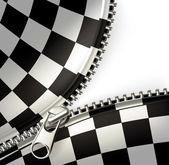 Zipper, checkered — Stock Vector