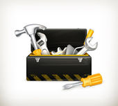 Black toolbox — Stock Vector