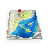 Plattegrond van de stad — Stockvector