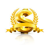 Dollar sign, emblem — Stock Vector