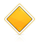 Priority road sign — Stock Vector