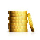 Stapel von münzen — Stockvektor