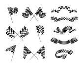 Checkered flag, zestaw — Wektor stockowy