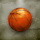 Basketball, old-style vector — Stock Vector
