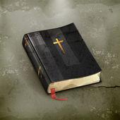 Bibel, mediäval vektor — Stockvektor