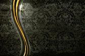 Fond noir de luxe, ancienne vector — Vecteur