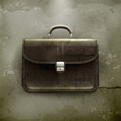 Brief case, old-style vector — Stock Vector