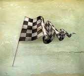 Bandeira quadriculada, vetor de estilo antigo — Vetorial Stock