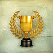 Golden trophy, old-style vector — Stock Vector