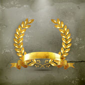 Gold wreath, old-style vector — Stockvector
