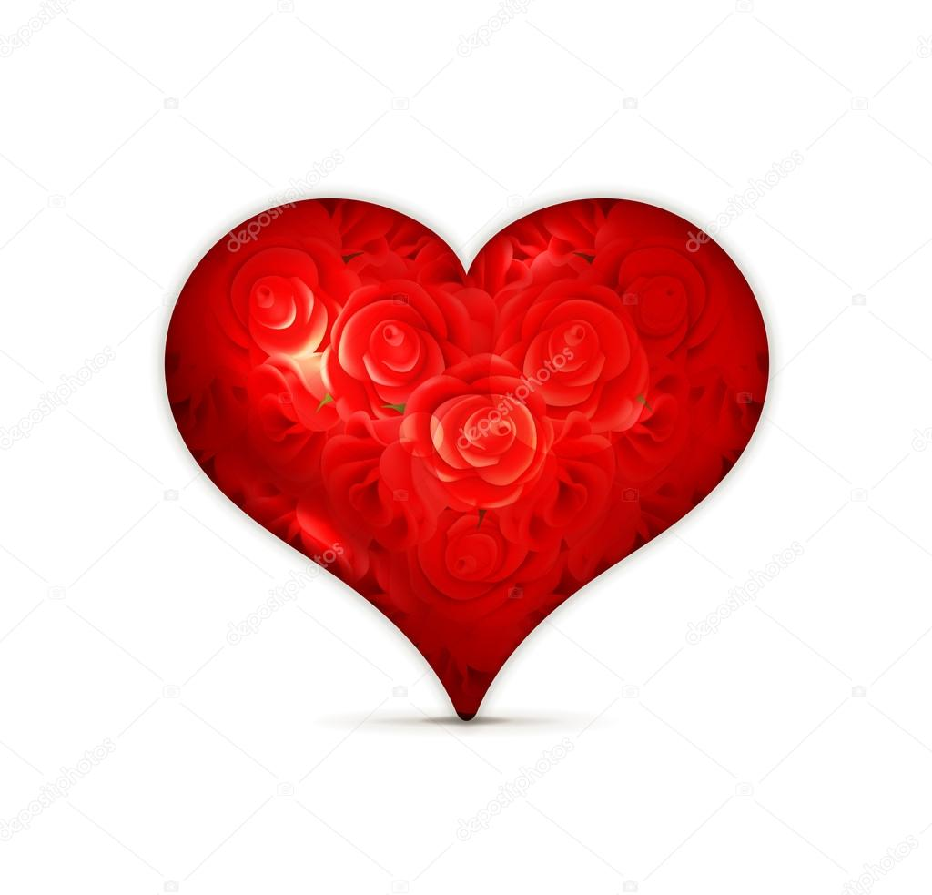 Red heart  Stock Vector #12828943