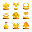 Gold awards, vector set — Stock Vector #12834650
