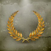 Laurel Wreath Gold, old-style vector — Stock Vector