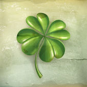 Lucky clover, old-style vector — Vettoriale Stock
