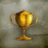 Altın ödül, eski stil vektör — Stok Vektör