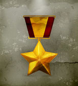 Gold star, old-style vector — Stock Vector