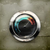 Speedometer, old-style vector — Stock Vector